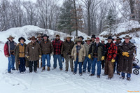 Seventeen Shooters took part on a snowy day.