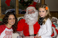 Santa meets all the cute girls.